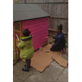 Great team work painting the playhouse