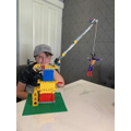 Jaiden's working crane demonstrating a pulley!