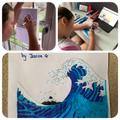 Jess drew her own Great Wave