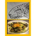 Vincent's tiger drawing and healthy plate!
