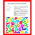 Kezia's steps to solve multiplication sums.