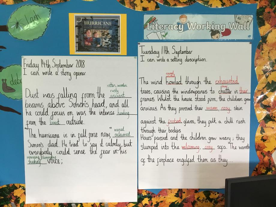 Guided Writing in Literacy, based on the book Hurricane