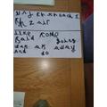Practising her Spellings