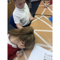 Children labelled the types of angles they found on their desk.