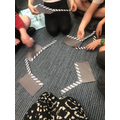 Children showed a variety of different angles using their knowledge of different types.