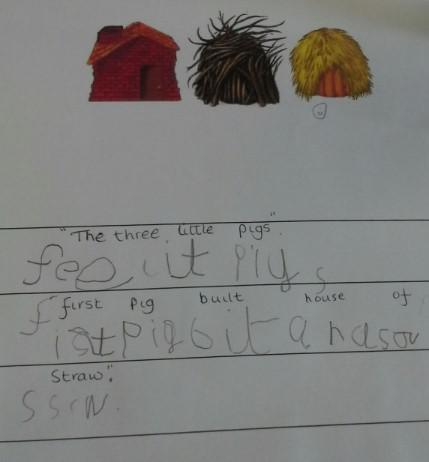 A wonderful attempt at writing a sentence!