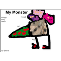 Elena's monster is called Backson.