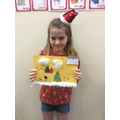 Children made calendars including a lever to give to a family member as a present.