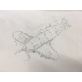 RAF Spitfire sketches by Oak Class