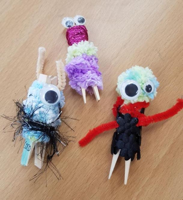 Peg worry monsters using limited materials