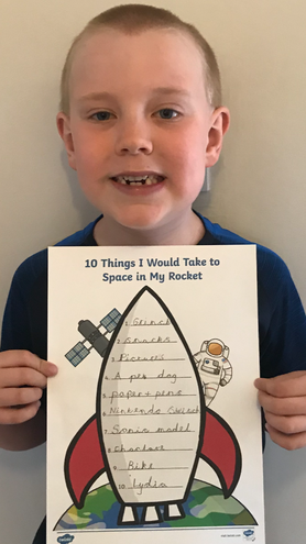 Look what Charlie would take to Space.