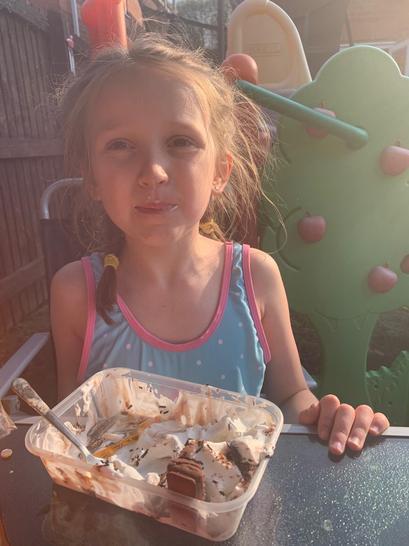 Amelia's enjoyed an ice cream treat in the sun.