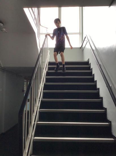 100 stair climbs...