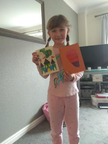 Evie's card from Fergus.