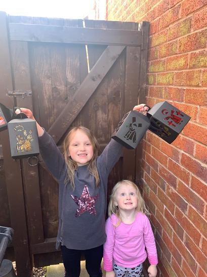 Amelia made lovely lanterns.