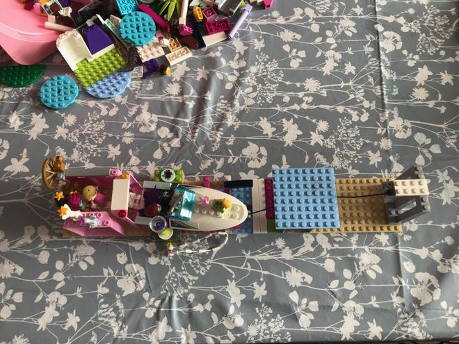 Libby has been busy with her Lego.