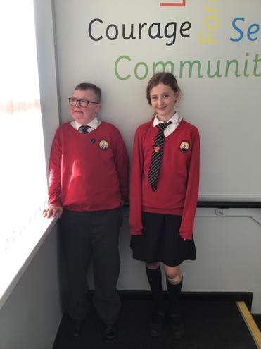 Our new Head Boy and Head Girl