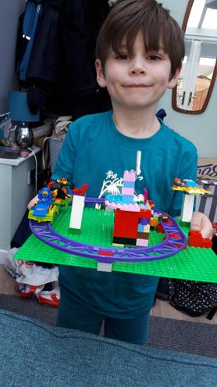Fergus made an amazing Lego model.