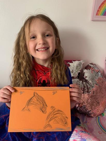 Amelia's card from Oscar.