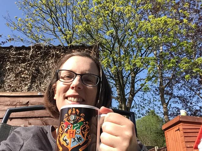 Enjoying a brew in the sunshine!☕️