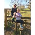 Enjoying the sunshine and keeping active