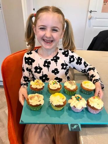 Lily made Mrs Khan's cakes! Yum!