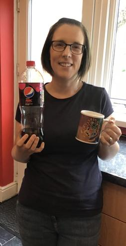 Cherry Pepsi Max (not Coke!) or a cup of tea!
