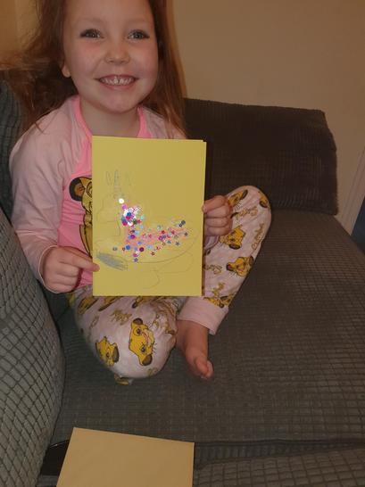 Ellie's card from Pheobe.