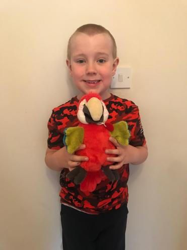 Charlie and his parrot from Lanzarote.