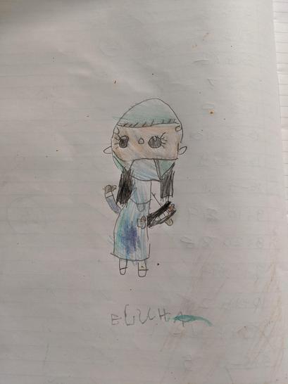 Elucha drew a super nurse. 👩🏻⚕️