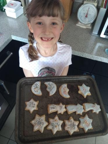 Evie made out of this world Space biscuits.