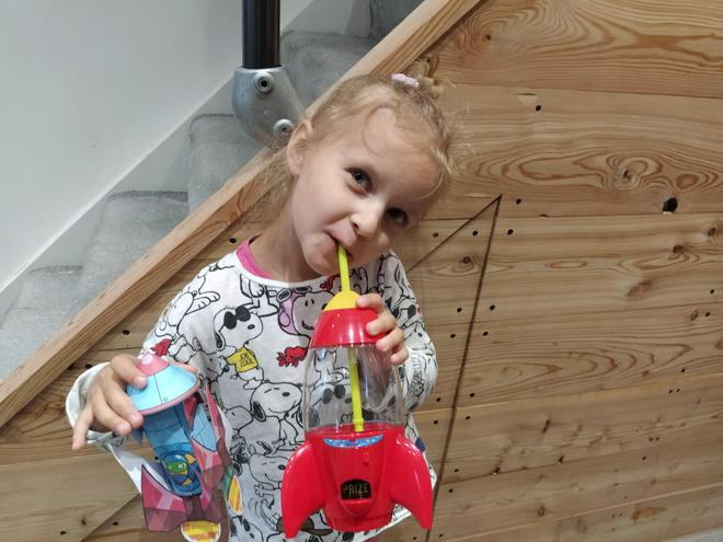 Sophie and her rockets.