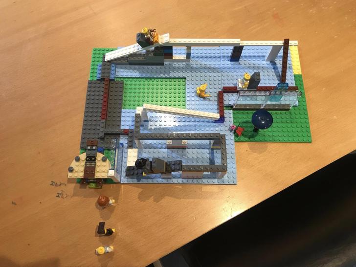 Charlie made a Lego log flume!