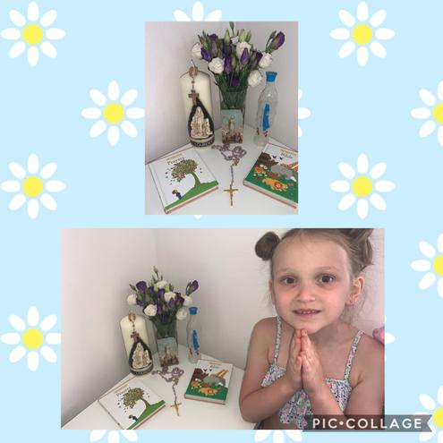 Amelia's lovely May altar.