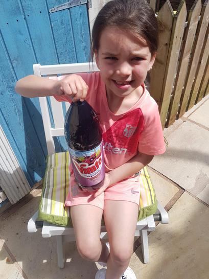 Refreshing Vimto for Lydia!