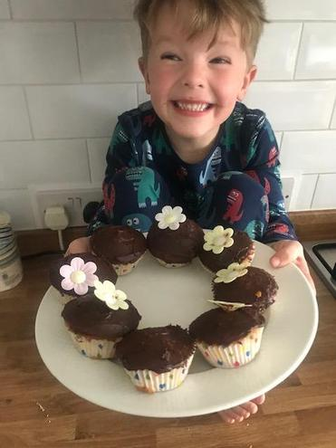Delicious cakes made by Zachary.