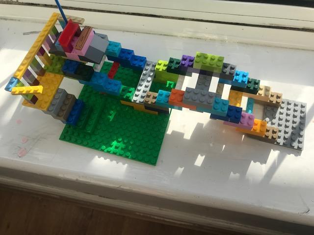 Zachary has been busy with Lego.