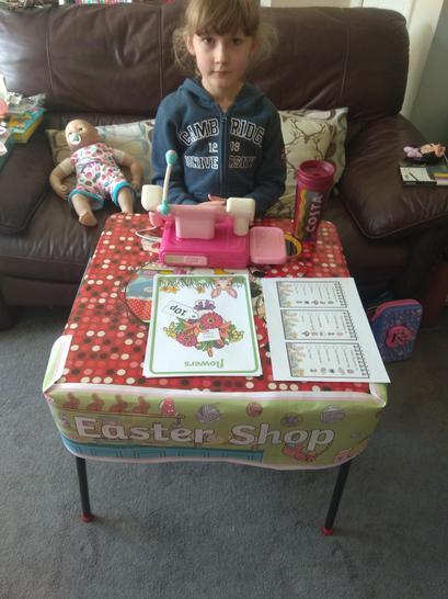 Evie made an Easter shop!