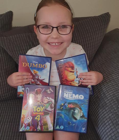 Ellie loves Disney films!