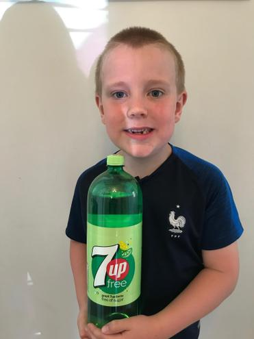7up (or Sprite) is Charlie's favourite.