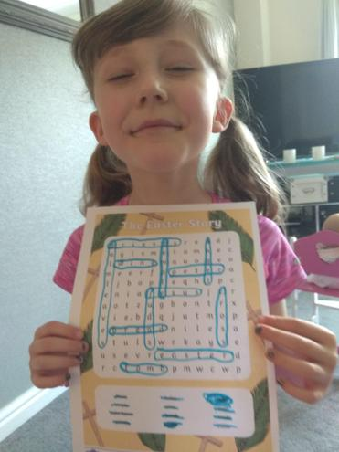 Evie is a word search whizz!