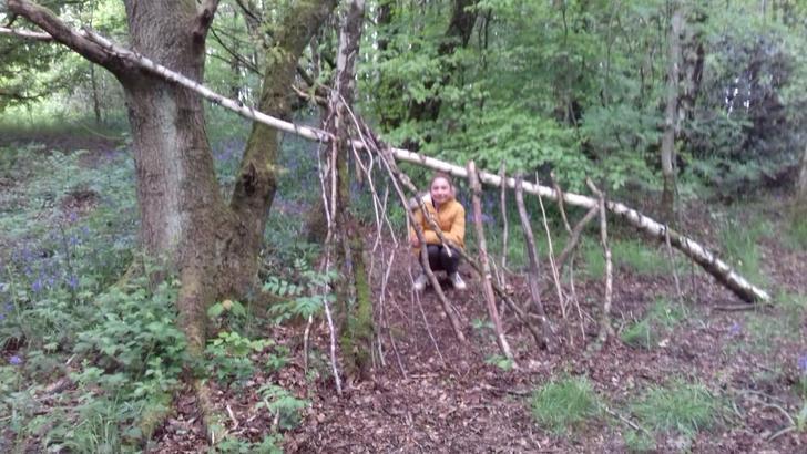 Great camping skills!
