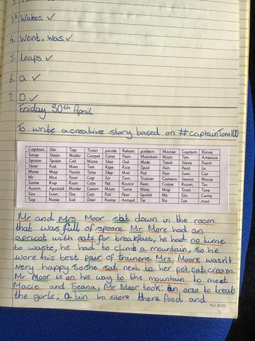 Task 2- using as many of these words as possible, can you create a story?