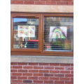 Rainbow window art from Amelie.