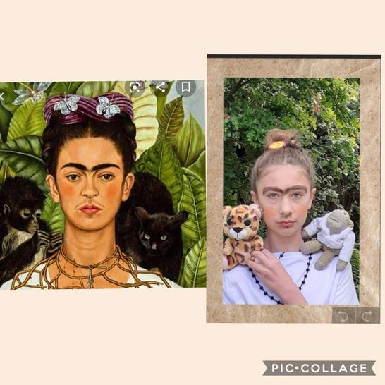Ellen's artistic recreation