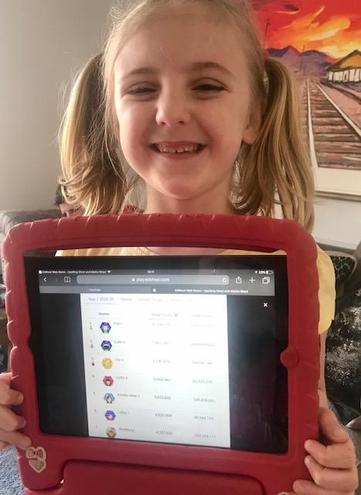 Lily has been working so hard on Spelling Shed.
