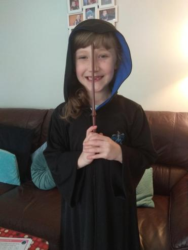 Ravenclaw's Evie is off to Hogwarts.