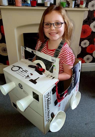Ellie made a car!