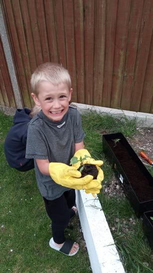 Oscar is a green fingered gardener.