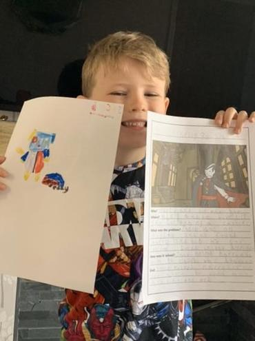 Jacob's really pleased with his great work.